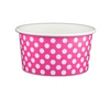06 OZ. PAPER YOGURT CUPS, POLKA DOT PINK - 1,000 PCS/CS - (Item: 20664) - CarryOut Supplies