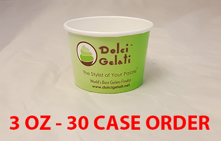 30 CASES - 3 OZ. CUSTOM PRINTED YOGURT CUPS - 50% DEPOSIT REQUIRED - $43.00/CS - CarryOut Supplies