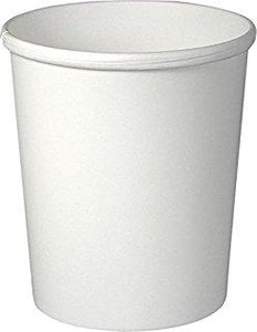 16oz SOLO H4165-2050 PAPER HOT & COLD FOOD CONTAINER PLAIN WHITE 25 PCS/CS - Retail / Party Size - CarryOut Supplies