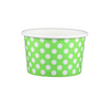 4 OZ. PAPER YOGURT CUPS, POLKA DOT LIME GREEN - 1,000 PCS/CS - (Item: 20462) - CarryOut Supplies