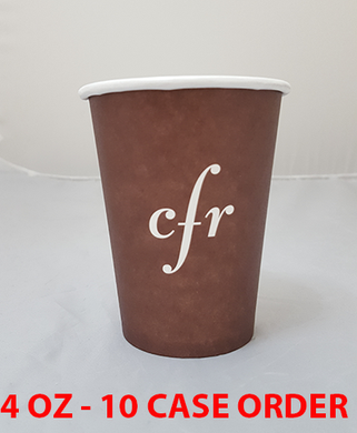 10 CASES - 4 OZ. CUSTOM PRINTED COFFEE CUPS - 50% DEPOSIT REQUIRED - CarryOut Supplies