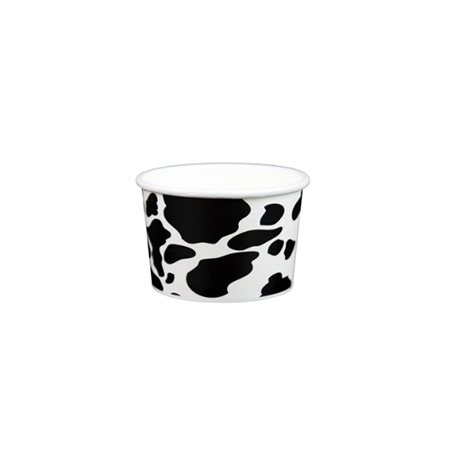 04 OZ. PAPER YOGURT CUPS, DAIRY PRINT - 1,000 / CS - (Item: 20491) - CarryOut Supplies