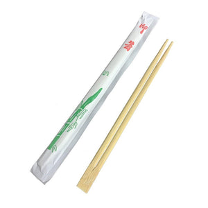 9'' BAMBOO CHOPSTICKS ENVELOPE WRAPPED, SINGLE-STYLE - 1,400/CS - (item code: 58191) - CarryOut Supplies