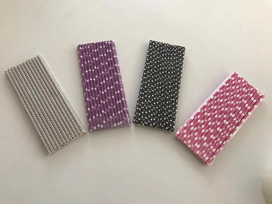 Assorted Paper Straws 1250pcs/cs - CarryOut Supplies