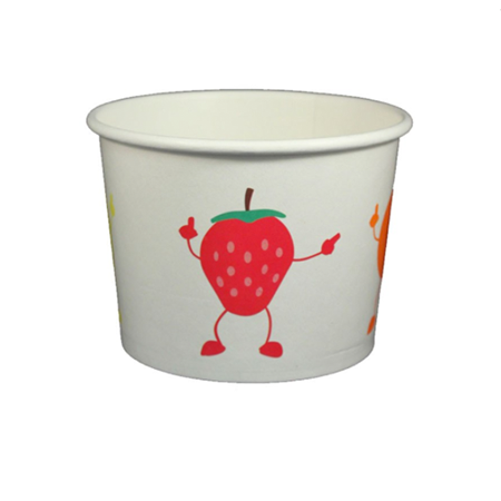 16 OZ. PAPER YOGURT CUPS, DANCING FRUIT - 1,000 PCS/CS - (Item: 23829) - CarryOut Supplies