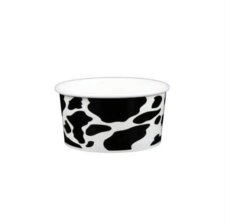 06 OZ. PAPER YOGURT CUPS, DAIRY PRINT -1,000 / CS - (Item: 20691) - CarryOut Supplies