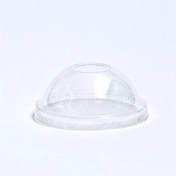 92 MM DOME LIDS ( HOLE ) FOR 12 OZ. PET CLEAR PLASTIC CUPS - CarryOut Supplies