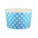 20 OZ. PAPER YOGURT CUPS, POLKA DOT BLUE - 600 PCS/CS - (Item: 22061)