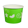 16 OZ. PAPER YOGURT CUPS, FRUIT PATTERN GREEN - 1,000 PCS/CS - (Item: 23826) - CarryOut Supplies
