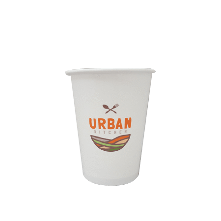 20 CASES - 8 OZ. CUSTOM PRINTED COFFEE CUPS - 50% DEPOSIT REQUIRED - $49.25/CS - CarryOut Supplies