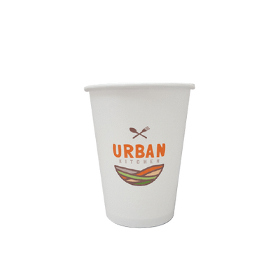 40 CASES - 8 OZ. CUSTOM PRINTED COFFEE CUPS - 50% DEPOSIT REQUIRED - $57.50/CS - CarryOut Supplies