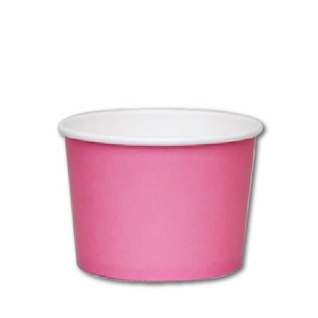 8 OZ. PAPER YOGURT CUPS - 1000 PCS/CS - PINK