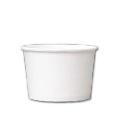 8 OZ. PAPER YOGURT CUPS - 1000 PCS/CS - PLAIN WHITE - CarryOut Supplies