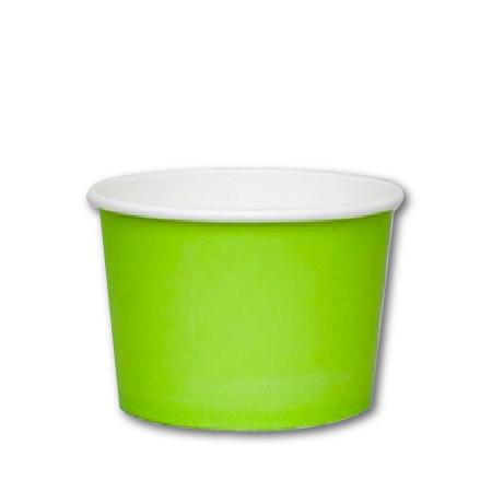 8 OZ. PAPER YOGURT CUPS - 1000 PCS/CS - GREEN