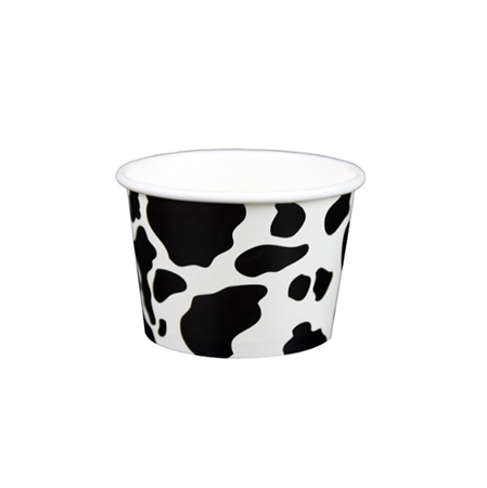 08 OZ. PAPER YOGURT CUPS, DAIRY PRINT - 1,000 / CS - (Item: 20891) - CarryOut Supplies