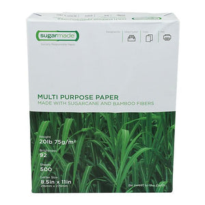 SUGARMADE - TREE FREE PAPER - 10 REAMS/CS - 5000 sheets - CarryOut Supplies