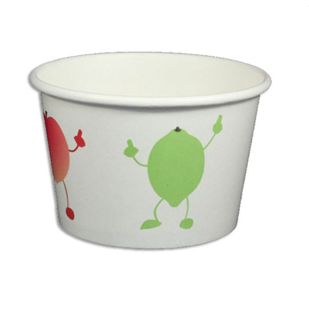 8 OZ. PAPER YOGURT CUPS, DANCING FRUIT - 1,000 PCS/CS