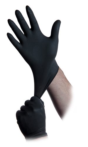 Black Lightning Nitrile Gloves Packs of 100, 1000, 5000pcs Available) - CarryOut Supplies
