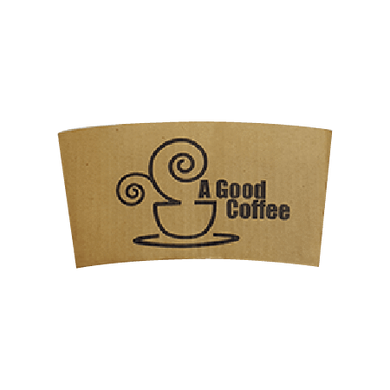 60 CASES | 10-24 OZ  BROWN CUSTOM PRINTED COFFEE SLEEVES - 50% DEPOSIT REQUIRED - $31.00/CS - CarryOut Supplies