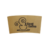 30 CASES | 10-24 OZ  BROWN CUSTOM PRINTED COFFEE SLEEVES - 50% DEPOSIT REQUIRED - $33.00/CS - CarryOut Supplies
