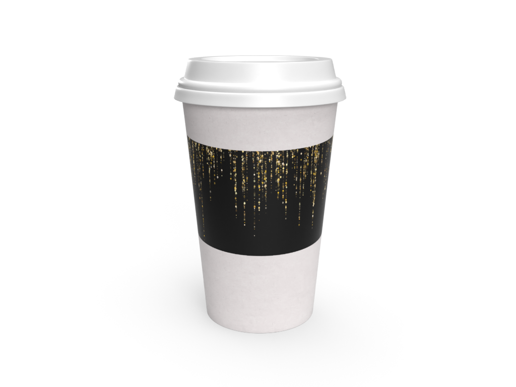 Cup Sleeve - Carryout Galaxy Cup Sleeve (Black) - CarryOut Supplies