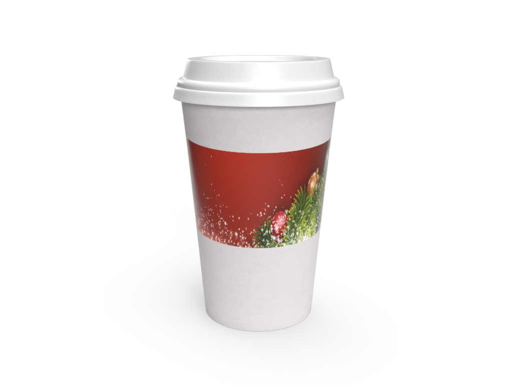 Cup Sleeve - Carryout Holiday Seasonal Cup Sleeve (Red) - Limited Edition