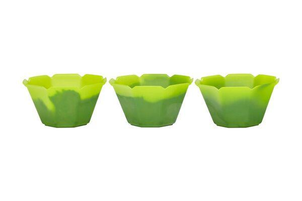 OCTOGONO CUPS 5 OZ - YELLOW TO GREEN - 500 CUPS / CS - CarryOut Supplies