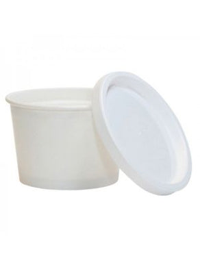 Ice Cream Cup Premium PP Lid (Flat) - CarryOut Supplies