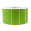 4''X2'' PAPER LABELS PRINTED - SOLID GREEN (4RL/3000PC) - (Item: 9420-SG) - CarryOut Supplies
