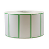 "4''X2'' PAPER THERMAL LABELS PRINTED (3""CORE, 7.5""OD) - GREEN FRAME (4RL/3000PC) - (Item: 9421-FG) - CarryOut Supplies"