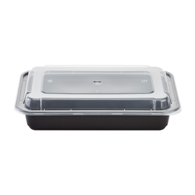 Microwavable Premium PP Black Rectangle Container (Pre-order)