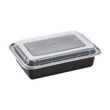 Load image into Gallery viewer, Microwavable Premium PP Black Rectangle Container - CarryOut Supplies