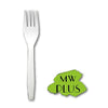 "MEDIUM WEIGHT PLUS WHITE FORKS (6""), 1000 PCS/CS - (Item: 5210W) - CarryOut Supplies"