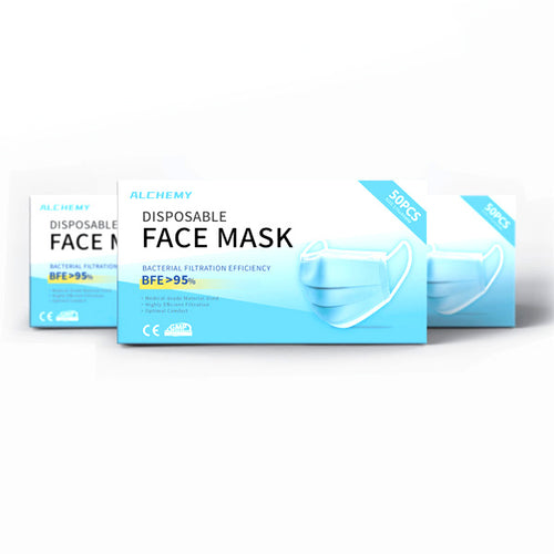 D1 Disposable Face Mask - (Packs of 50, 150, 300, 2000 Available) - CarryOut Supplies