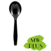 "MEDIUM WEIGHT PLUS BLACK SOUP SPOONS (5.5""), 1000 PCS/CS - (Item: 5212B) - CarryOut Supplies"