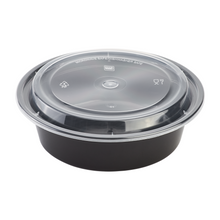 Load image into Gallery viewer, Microwavable Premium PP Black Round Container (Pre-order)