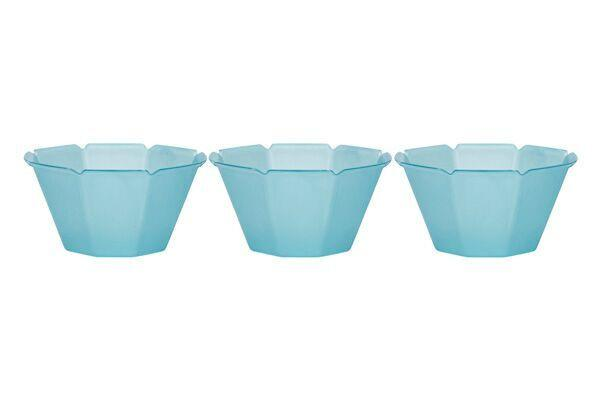 OCTOGONO CUPS 3 OZ - BLUE - 1000 CUPS / CS - CarryOut Supplies