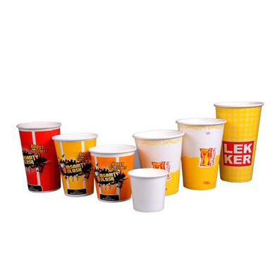 25 CASES - 9 OZ. CUSTOM PRINTED PAPER SODA CUPS 2000 PCS/CS - 50% DEPOSIT REQUIRED - $72.84/CS - CarryOut Supplies