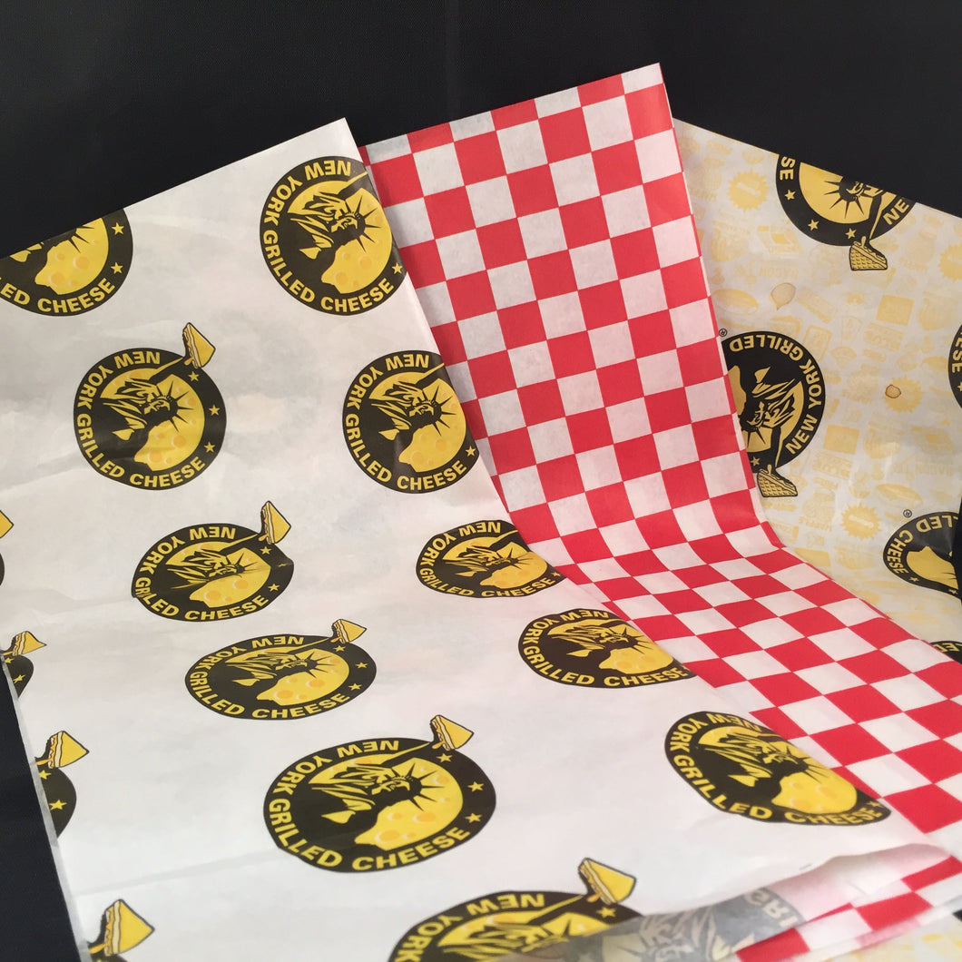 Custom Printed Premium Wax Paper Food Wrap - CarryOut Supplies