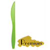 "PREMIUM HEAVY WEIGHT PLASTIC GREEN KNIVES (7.25""), 1000 PCS/CS - (Item: 5233-LG) - CarryOut Supplies"