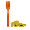 "PREMIUM HEAVY WEIGHT PLASTIC ORANGE FORKS (6.6""), 1000 PCS/CS - CarryOut Supplies"