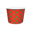 16 OZ. PAPER YOGURT CUPS, POLKA CHRISTMAS RED & GREEN - 1,000 PCS/CS - CarryOut Supplies