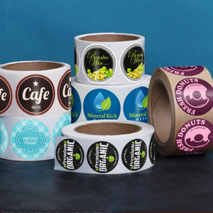 Custom Printed Circle Labels / Stickers - CarryOut Supplies