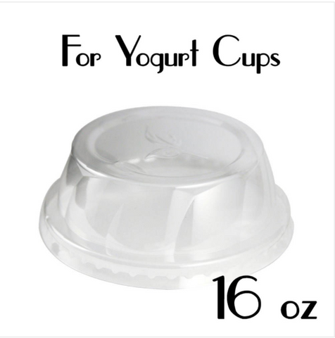 PLASTIC DOME LIDS ( FLAT TOP ) | 16 OZ. | CARRYOUTSUPPLIES.COM