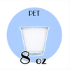 CLEAR PLASTIC PET CUPS | 8 OZ. | CARRYOUTSUPPLIES.COM - (Item: C8) - CarryOut Supplies