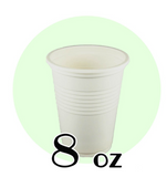 8 OZ. BIODEGRADABLE DRINKING CUPS, BEIGE - 1,000 PCS/CS - (Item: D0808)