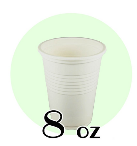 8 OZ. BIODEGRADABLE DRINKING CUPS, BEIGE - 1,000 PCS/CS