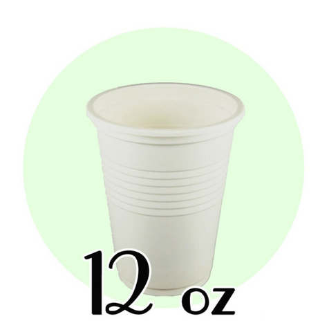 12 OZ. BIODEGRADABLE DRINKING CUPS, BEIGE - 1,000 PCS/CS
