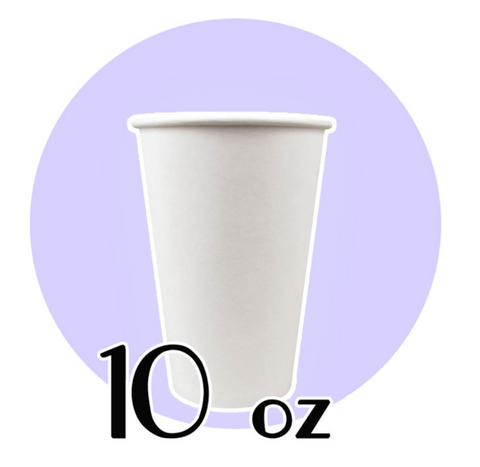 10 OZ. PAPER HOT CUPS, WHITE - 1,000 PCS/CS