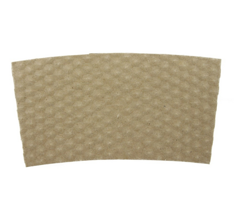 10 - 24 OZ. PAPER HOT CUP SLEEVE, KRAFT HEX-TEXTURED - 1,000 PCS/CS